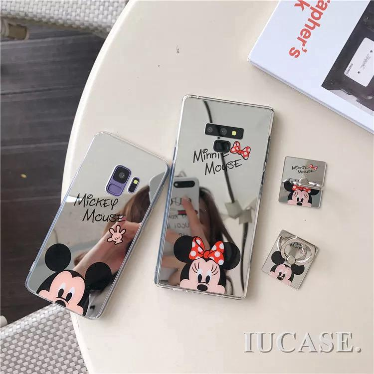 Review Samsung Note10/Note10plus/S10P/S10/S10E/Note9/Note8/S8/S8P/S9/S9P Mickey Minnie Soft Case with Stand