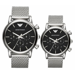 Review Armani classic black chronograph watch Ar1811