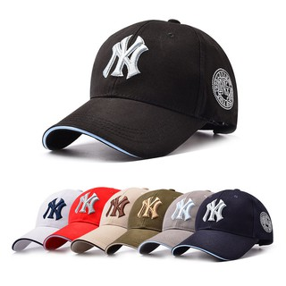 Review Men Women NY Snapback หมวกเบสบอล Casual Solid Adjustable Cap Bboy Hip Hop Hat