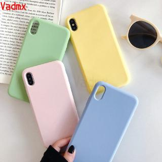Review Vivo Y17 Y83 V7+ V7 Plus Y71 V5 V5S Lite Phone Case Liquid Silicone Soft TPU Colorful Fresh Simple Cover