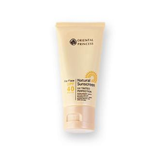 Review Oriental Princess Natural Sunscreen UV Tinted Perfection SPF40/PA+++ 50g