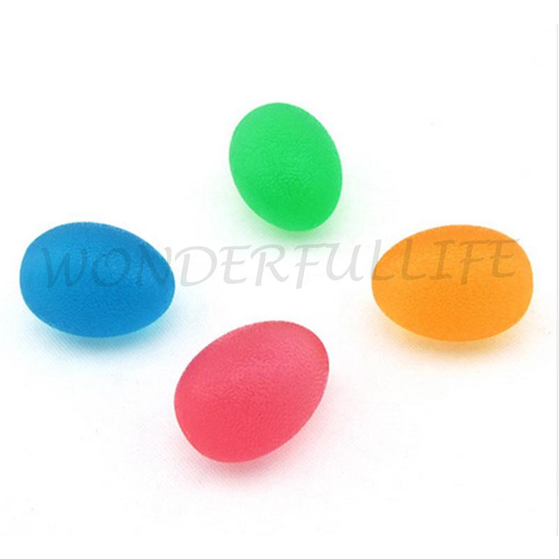 The best Silicone Egg Shaped Massage Hand Gripper Finger Exercise Stress Squeeze Ball*