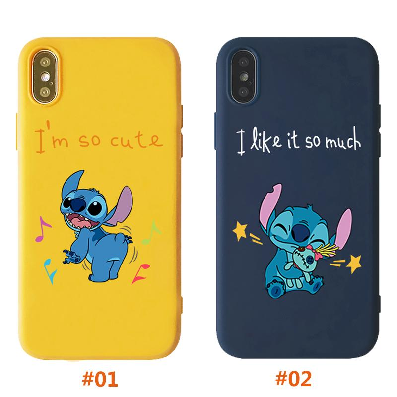 Review กรณี For iPhone 6 6s 7 8 Plus X XS XR XSMax 11 11Pro 11ProMax Cartoon Stitch Case Fashion I Like It So Much Casing