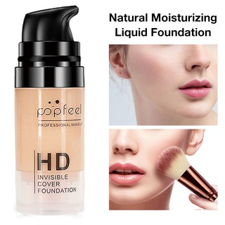 Review Liquid Foundation Natural Moisturizing Oil Control Facial Blemish Concealer Long Lasting