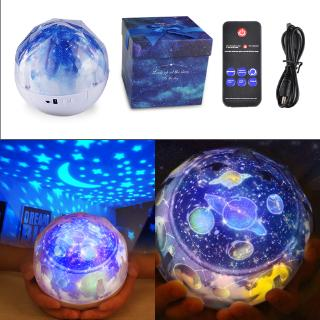The best NEW Fantasy Universe USB Charging LED Magic Projector Lamp Rotate Planet Star Birthday Night Light with Remote Control