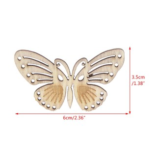 Review ARIN Natural Wooden Chips Butterfly Shaped DIY Crafts Ornament Hanging Pendant
