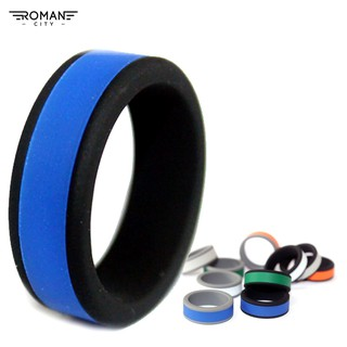 Review romancity t Fitness Spormen DIY Dual Color Flexible Silicone Band Ring Yoga