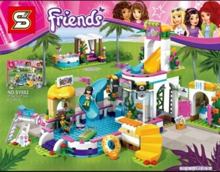 Review Ultimate-toys เลโก้ Friends SY 882 ชุดFriends Summer Pool จำนวน613ชิ้น