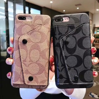 Review COACH แบรนด์ไทด์ แพคเกจบัตรกระเป๋าเงิน รูปแบบธุรกิจ BUMPER COVER CASE FORHUAWEImate20/mate20pro/p20/p20pro/p20lite/p30/p