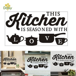 Review Wall Sticker PVC Art Removable Words Waterproof Decal Decoration for Kitchen