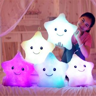 Luminous Pillow Star Colorful Glowing Plush Pillow Doll Toys Gift For Girl Kids Christmas LED Light Plush Toy