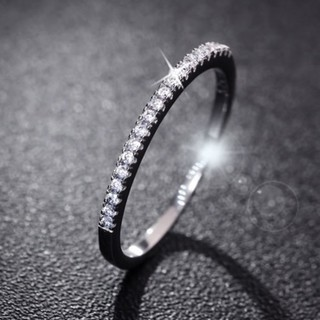 Review LK❈Fashion Women 925 Sterling Silver Rhinestone Wedding Engagement Ring Jewelry