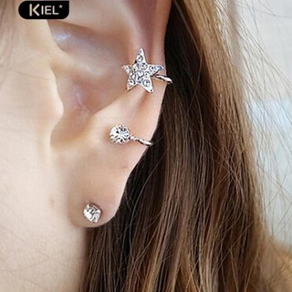 Review Kiel 1 Pc Elegant Earring Rhinestone Ear Stud