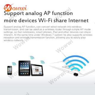 [In Stock/New] USB Mini Wireless Small Network Card 150Mbps Computer Wifi ReceiverTransmitting Adapter Converter WOW
