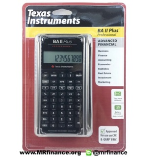 Texas Instruments TI BA II Plus ( Professional)  New Model แพคUSA แถมซองหนัง