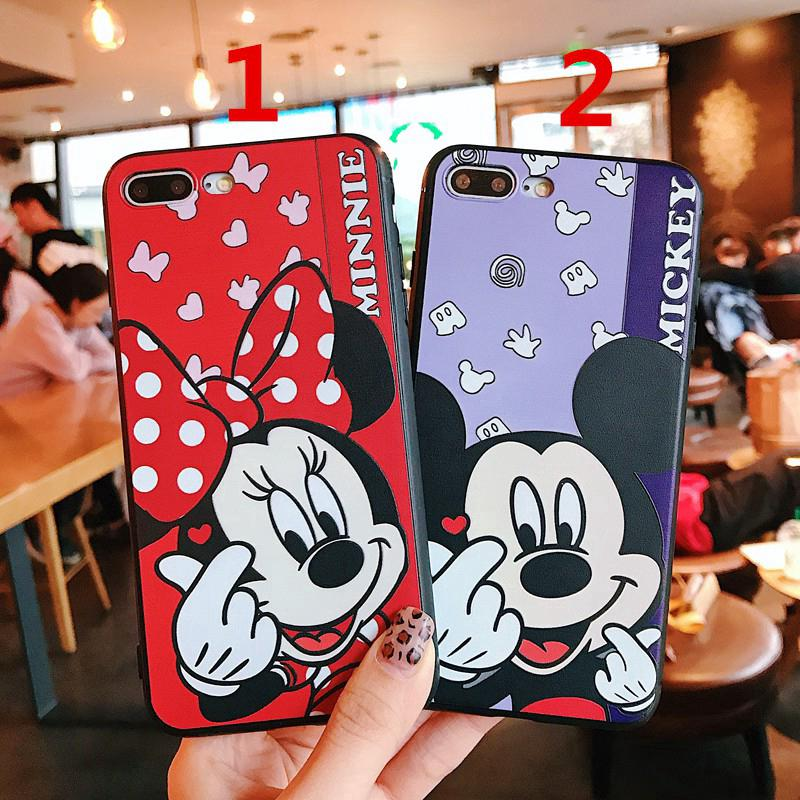 Review Cartoon Cute Mickey Minnie TPU Soft Case Iphone 6 6s 6plus 7 8plus X XR XSmax