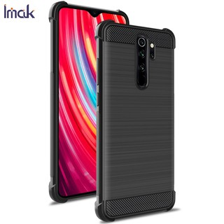 Review Xiaomi Redmi Note 8 TPU soft Case Imak Carbon Fiber pattern Design airbag Back Cover Redmi Note 8 pro
