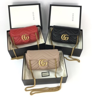 Review New Gucci Marmont Super mini Fullset (เลือกสีได้คะ)