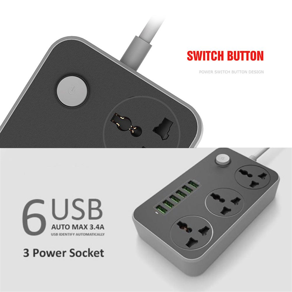 Household Socket Smart Surge Protection With USB Ports Power Strips Ch
