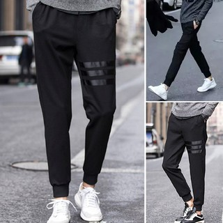 babykoko@Men Long Sports Pants Gym Slim Fit Trousers Dance Jogger Gym Sweat