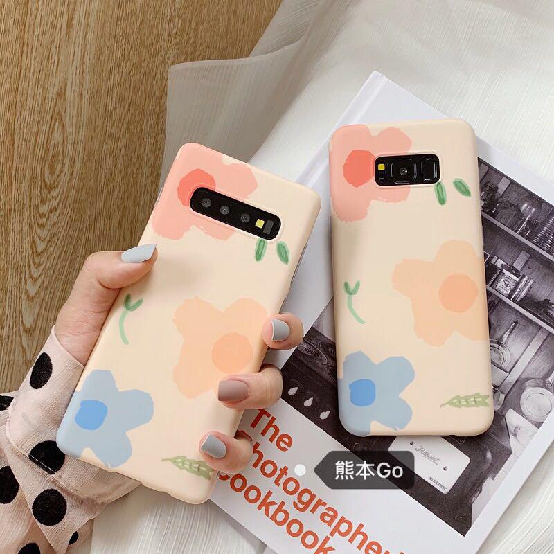 Review Samsung Note10 Note10plus S10 S10P Note9 Note8 S8 S8P S9 S9P  Colorful flower fashion soft back phone case