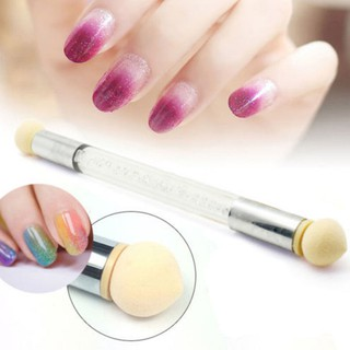 Review Dual head Nail Art Sponge Brush Pen Kit Rhinestone Handle Stamping Transfer Tool