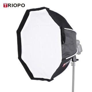 Ecmall TRIOPO 65cm Foldable 8-Pole Octagon Softbox with Soft Cloth Handle for Godox Yongnuo Andoer On-camera Flash Light