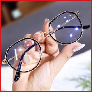 Women's Korean-style polygonal myopia glasses anti-Blue-Ray anti-radiation glasses frame women's slimming student plain glasses