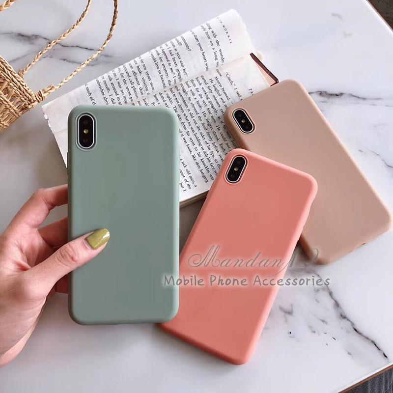 Image # 8 of Review กรณี Casing Xiaomi Redmi S2 Note 6 Pro Note 7 Mi A2 Lite Plain Rubber Matte Candy Soft Case