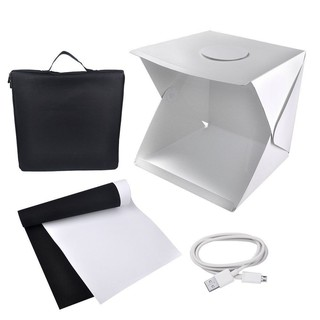 Image # 7 of Review Ifone Portable 40CM Photography Lighting Cube Tent Photo Studio Light Box 2-LED-Strips