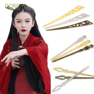 DOREEN Women Girls Gold Silver Sword Shape Hair Stick