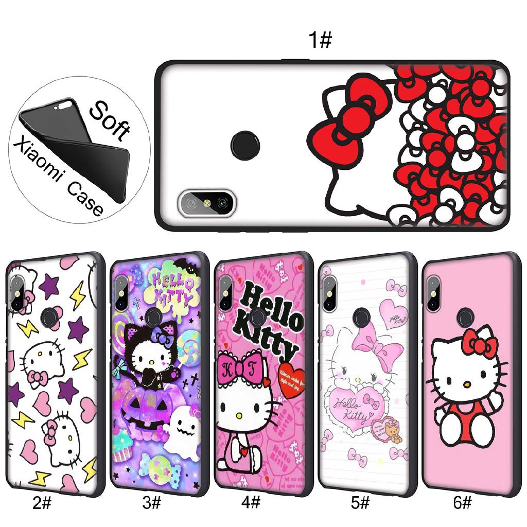 Review Xiaomi Mi 8 A2 Lite A1 F1 6 lovely cute Hello Kitty lovely pink Soft TPU Case