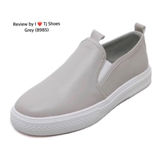 Review Slip On สีเทา