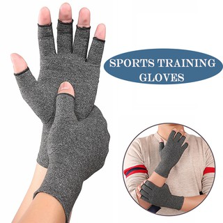 Review Men Women Training Pressure Gloves Sports Breathable Health Care Half Finger Gloves
