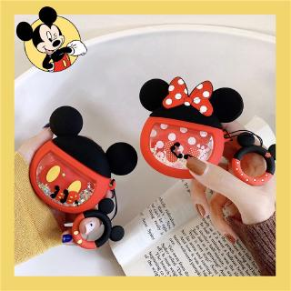 The best Cartoon Creative Quicksand AirPods 1 2 Cover Cute Silicone Drop Mickey Minnie AirPods Case