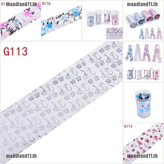 Review COD[maud]1Pc Flower Nail Art Foil Stickers Transfer Decal Tips Manicure Nai