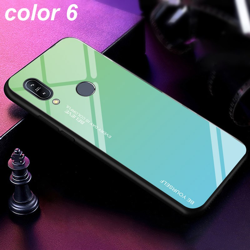 Image # 7 of Review ASUS Zenfone Max Pro M1 M2 ZB601KL ZB602KL ZB631KL ZB633KL Fashion Design Mixed Color Glass Back Cover Case