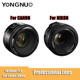 Yongnuo Lens YN 50 Mm. F1.8 - For Canon Nikon DSLR