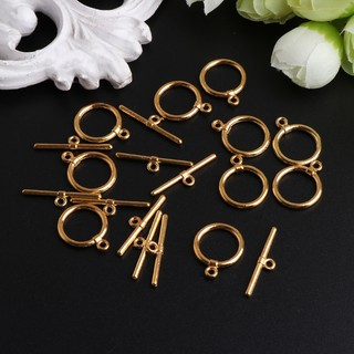 Review 10Pcs/Set 14mm Toggle Clasps Connectors OT Clasp Stainless Steel For Jewelry DIY