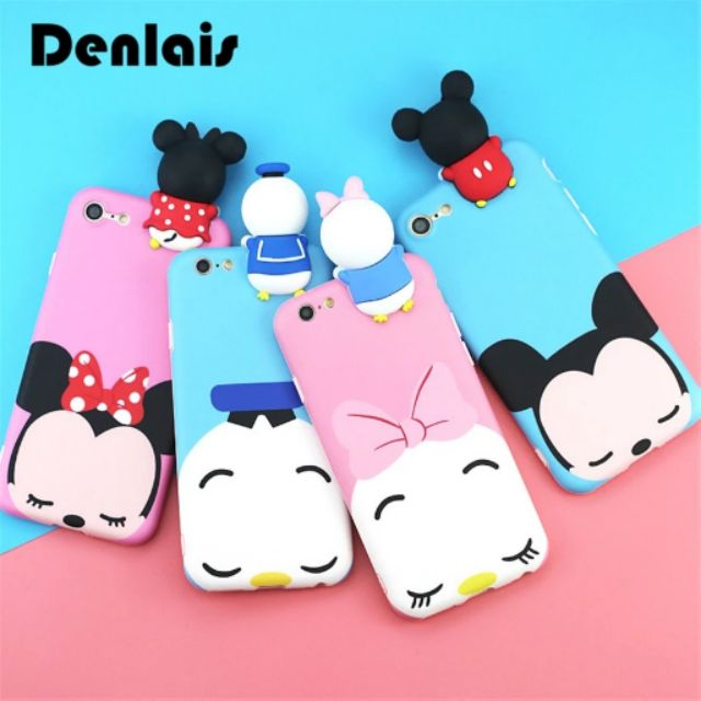 Image # 0 of Review เคส Huawei P9  P9plus P10plus iphone 6 6s 6plus 7plus vivo V5s ฝาหลังทีพียูการ์ตูนปีนจอ Mickey Minnie Mouse Donald Duck