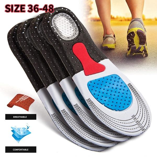 Review Men Gel Orthotic Sport ใส่ Insoles ใส่รองเท้า Pad Arch Support Heel Cushion