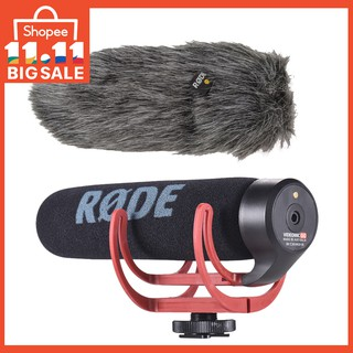 RODE VideoMic GO Super Cardioid Directional Microphone Lightweight On-Camera Shotgun Microphone with Fur Wind Shiel