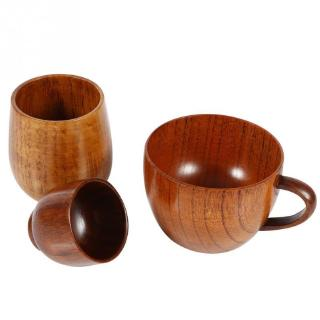 Review Wooden Cup Primitive Log Color Handmade Wood Coffee Tea Beer Juice Milk Mug