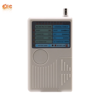 4-In-1 Network Cable Tester RJ11 RJ45 USB BNC LAN Tester Meter For UTP STP LAN Cable Tester Device Machine