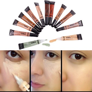 Review Face Concealer Liquid Foundation Base Cream Pro Makeupใหม่