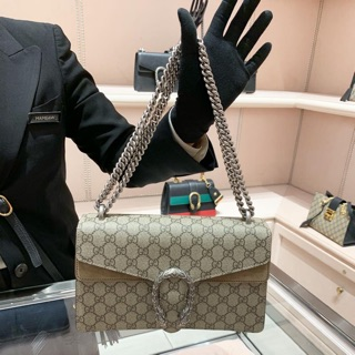 Review ใบขวา Gucci Dionysus small GG shoulder bag ขนาด 11