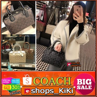 Review แท้💯%【มีกล่อง , ใบแจ้งหนี้ , บัตร 】 COACH F58312 BENNETT SATCHEL IN SIGNATURE (IMAA8) Signature Mini Bennett รุ่น