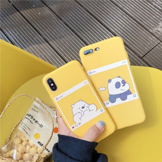 Review Oppo A3s A83 A57 A73 F5 F1s F9 F7 A37 We Bare Bears Soft TPU Couples Case Cover #E6