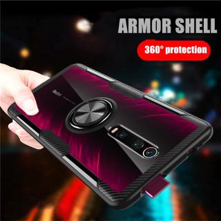 Review Xiaomi Mi 9T Pro Redmi K20 Pro Magnetic Ring Stand Holder Transparent TPU+PC Armor Case Cover