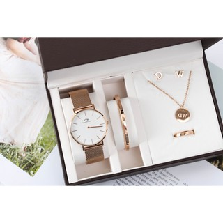 Review แท้ Daniel Wellington DW Watch Classic Petite Melrose Black 32mm 36mm 40mm+Cuff Gift Set